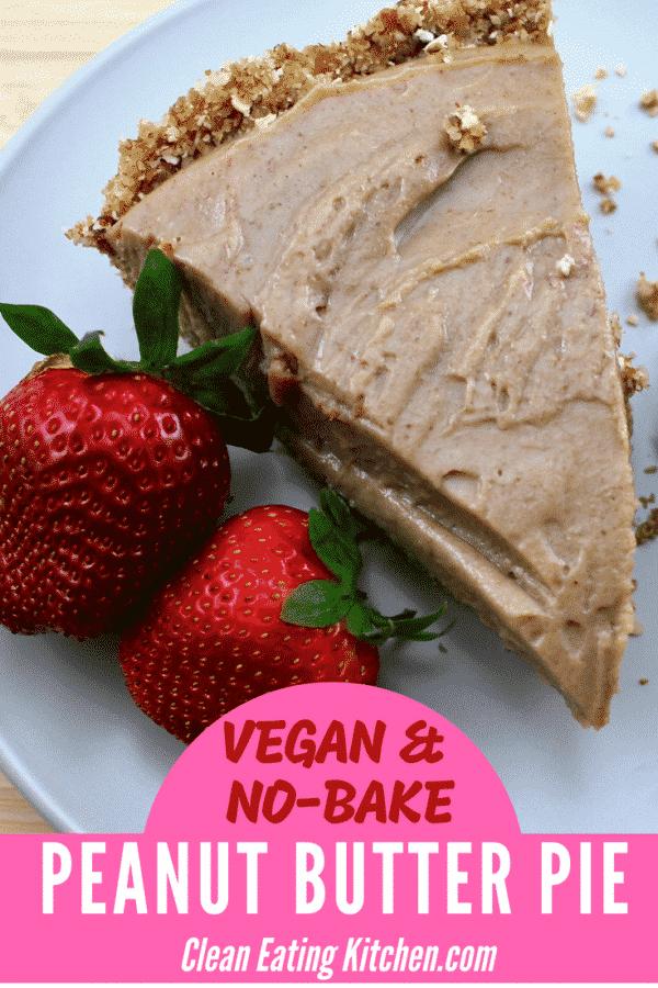 No-Bake Vegan Peanut Butter & Jelly Pie
