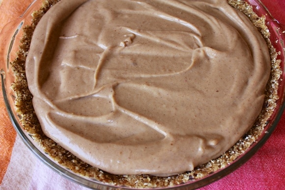 No-Bake Peanut Butter Pie from Carrie on Living | www.cleaneatingkitchen.com