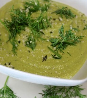 Dairy-Free Dilled Pea Soup