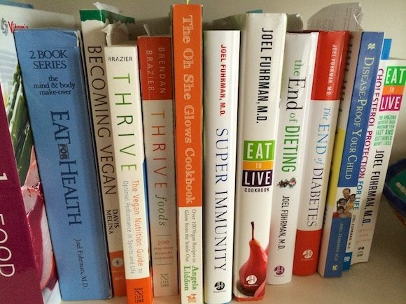 Cookbook shelf from Carrie on Vegan | www.carrieonvegan.com