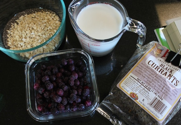 Chia Breakfast Pudding ingredients