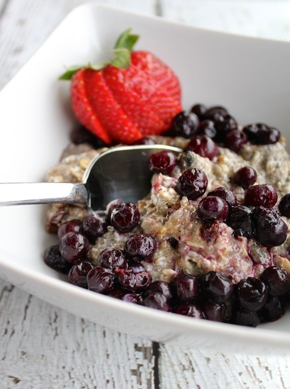 Chia Breakfast Pudding featured on Carrie on Living | www.cleaneatingkitchen.com
