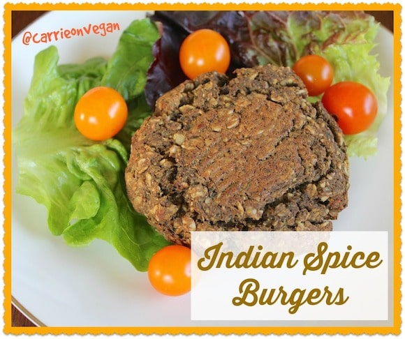 Indian Spice Burgers from Carrie on Living | www.cleaneatingkitchen.com