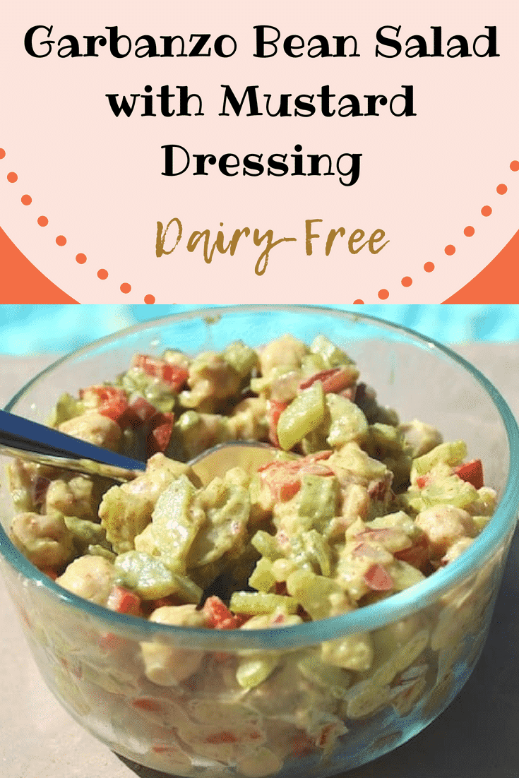 Dairy-Free Garbanzo Bean Salad with Mustard Dressing