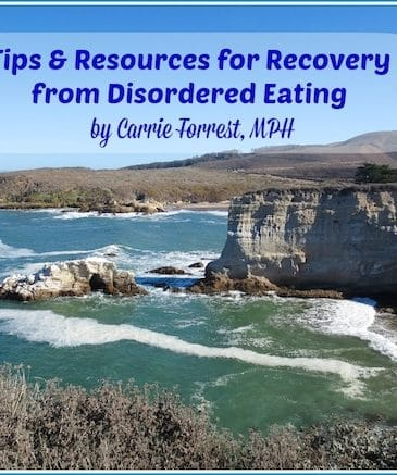 Disordered Eating Recovery from Carrie on Vegan | www.carrieonvegan.com