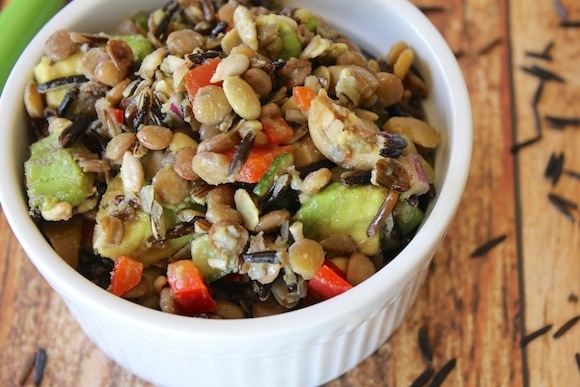 Wild Rice & Lentil Salad for a healthy gluten- and oil-free dish.
