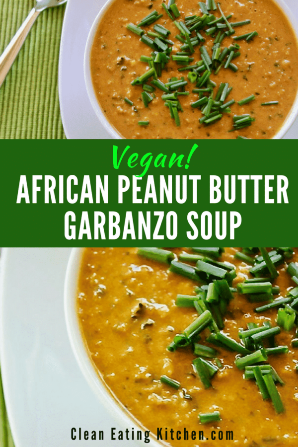Vegan African Peanut Butter Garbanzo Soup