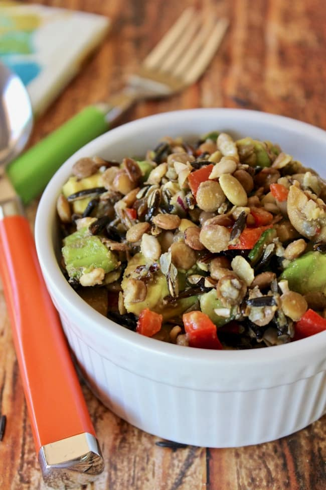 Wild Rice and Lentil Salad with Avocado