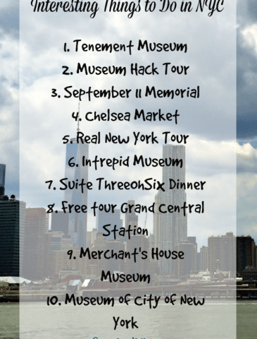 Interesting Things to Do in NYC