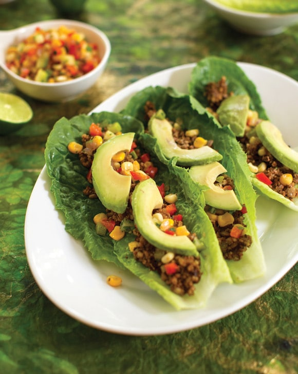 Lentil Walnut Tacos from Choosing Raw cookbook
