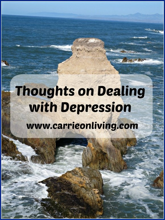Thoughts on Depression from Carrie on Living | www.cleaneatingkitchen.com