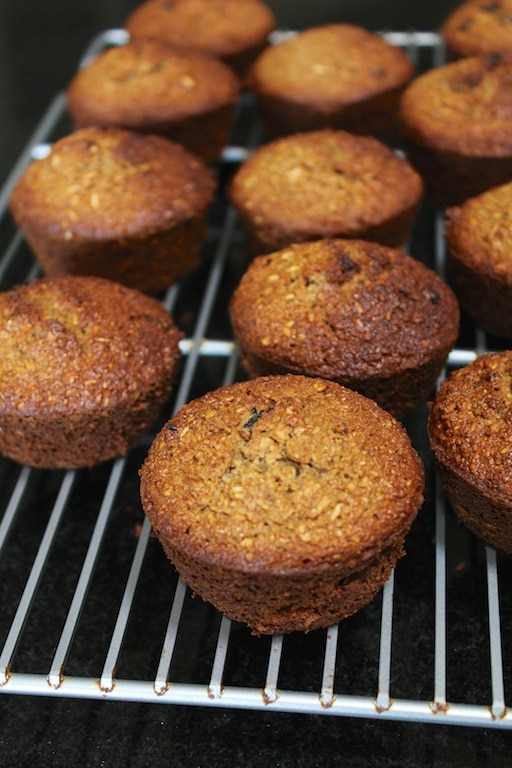Gluten-free honey bran muffins from Carrie on Living | www.cleaneatingkitchen.com