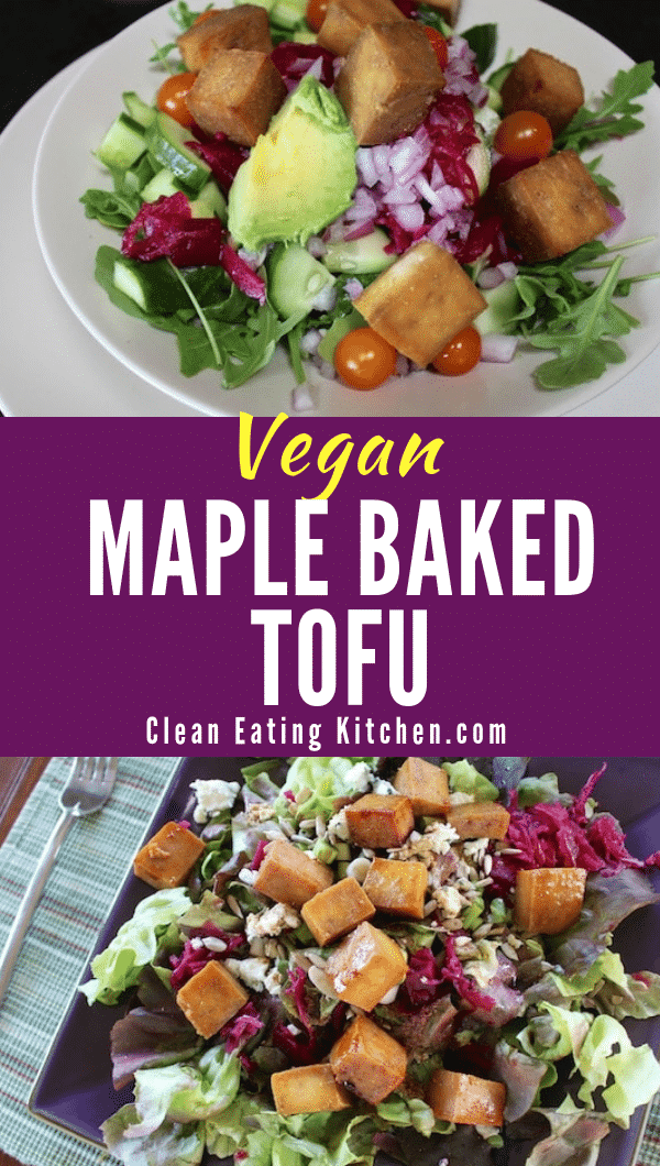 Vegan Maple Baked Tofu
