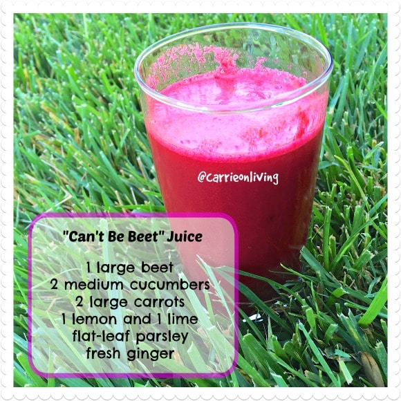 Can't Be Beet Juice from Carrie on Living | www.cleaneatingkitchen.com