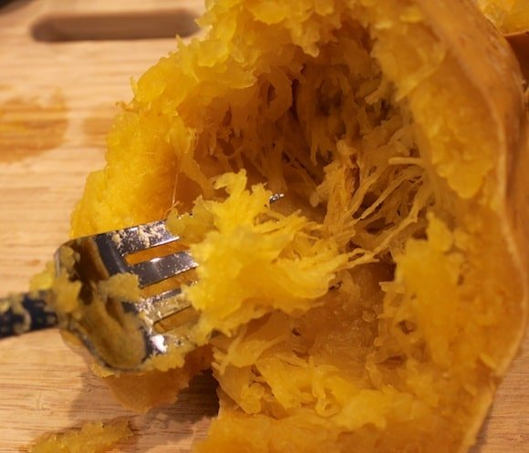 Crockpot Spaghetti Squash from Carrie on Living | www.cleaneatingkitchen.com