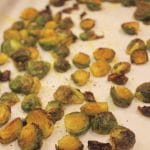 Turmeric Roasted Sprouts from Carrie on Living | www.cleaneatingkitchen.com