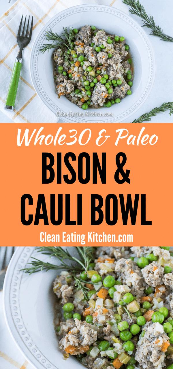 Bison and cauliflower bowl