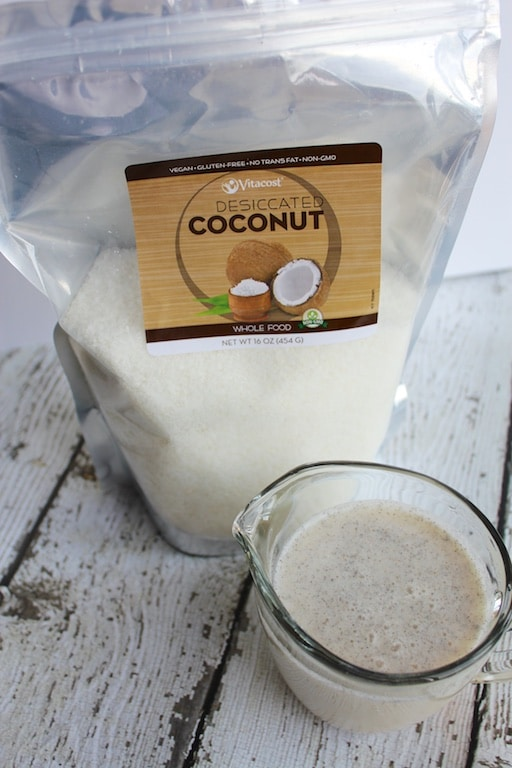 Vanilla Coconut Beverage (dairy-free, date-sweetened) featured on Carrie on Living | www.cleaneatingkitchen.com