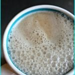Kukicha Coconut Latte from Carrie on Living | www.cleaneatingkitchen.com