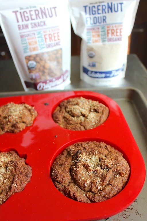 Carrot Cake Muffins with TigerNut Flour from Carrie on Living | www.cleaneatingkitchen.com