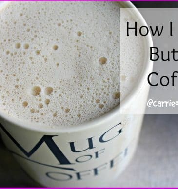 How I Make Butter Coffee