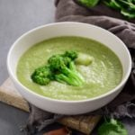 Broccoli soup in a bowl