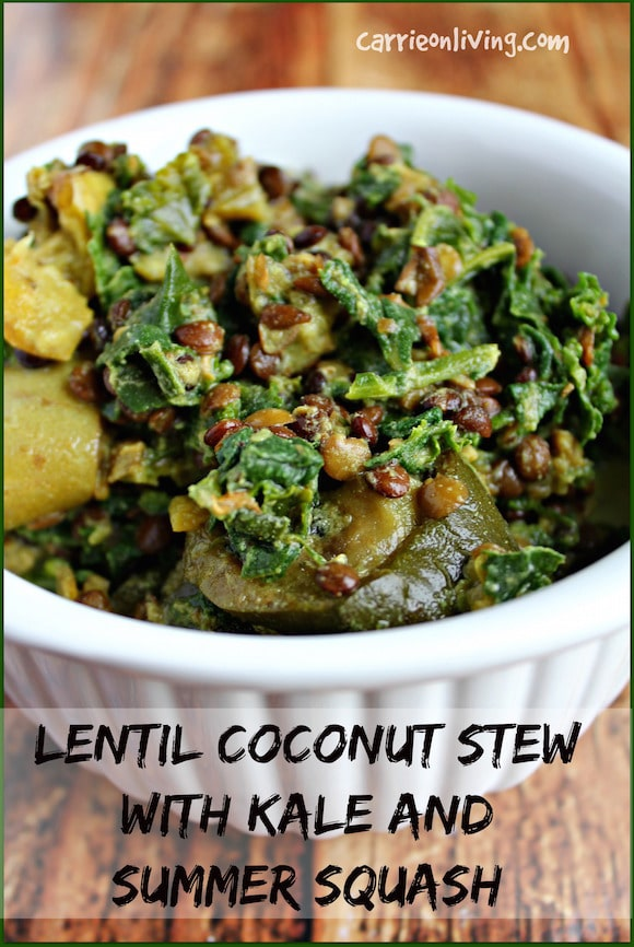 Lentil Coconut Stew from Carrie on Living | www.cleaneatingkitchen.com