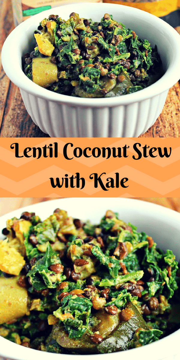 Lentil Coconut Stew with Kale & Summer Squash