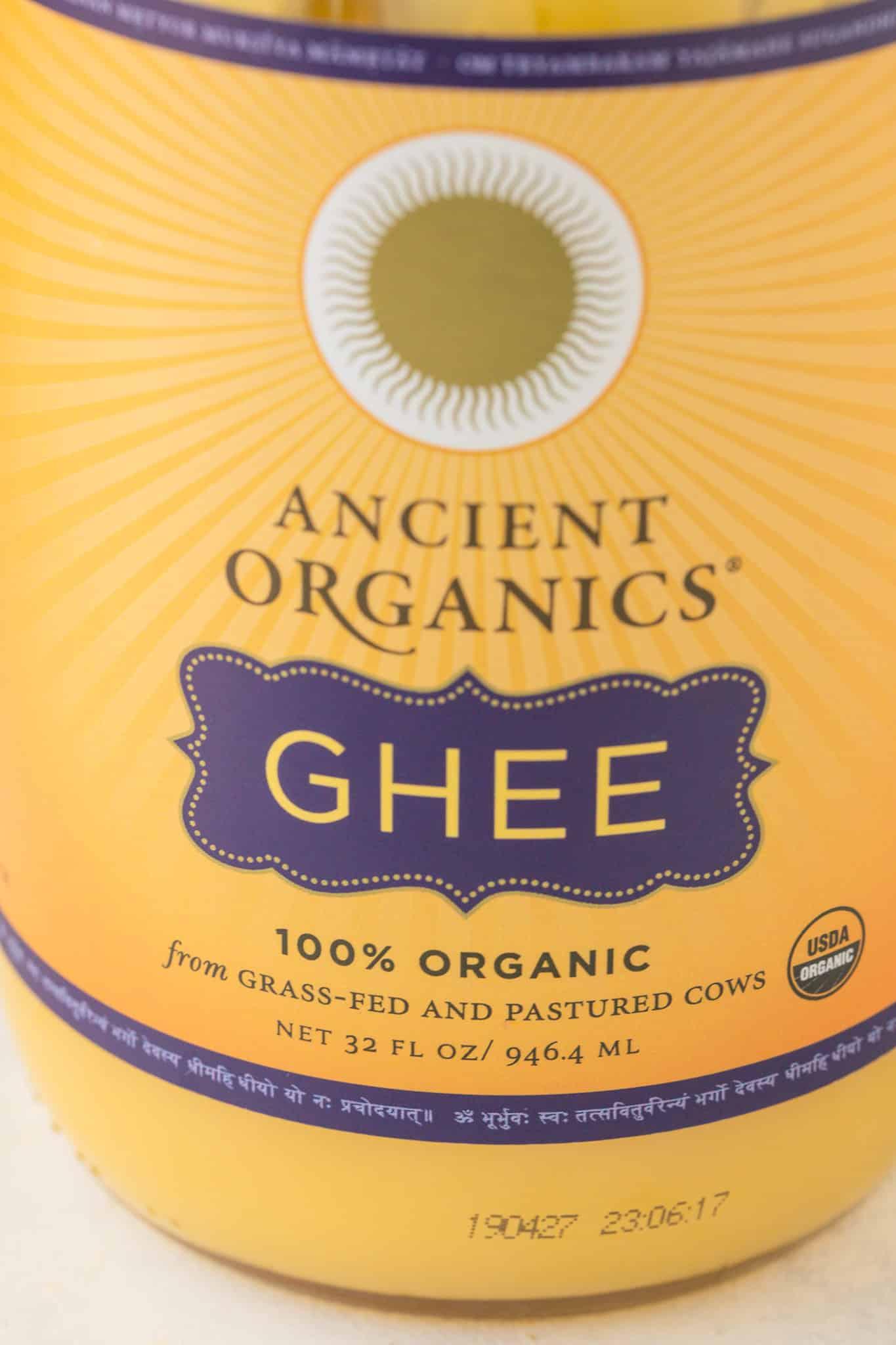 ancient organics jar of ghee