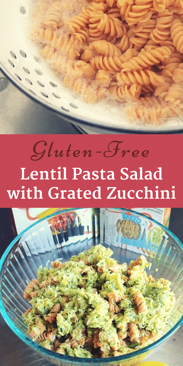 Gluten-Free Pasta Salad with Grated Zucchini