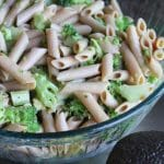 Broccoli & Avocado Pasta Salad from Carrie on Living | www.cleaneatingkitchen.com