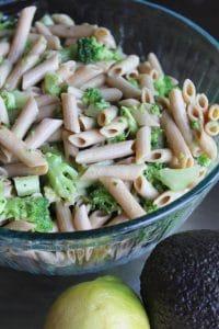 Broccoli & Avocado Pasta Salad (Gluten-free, Vegan)