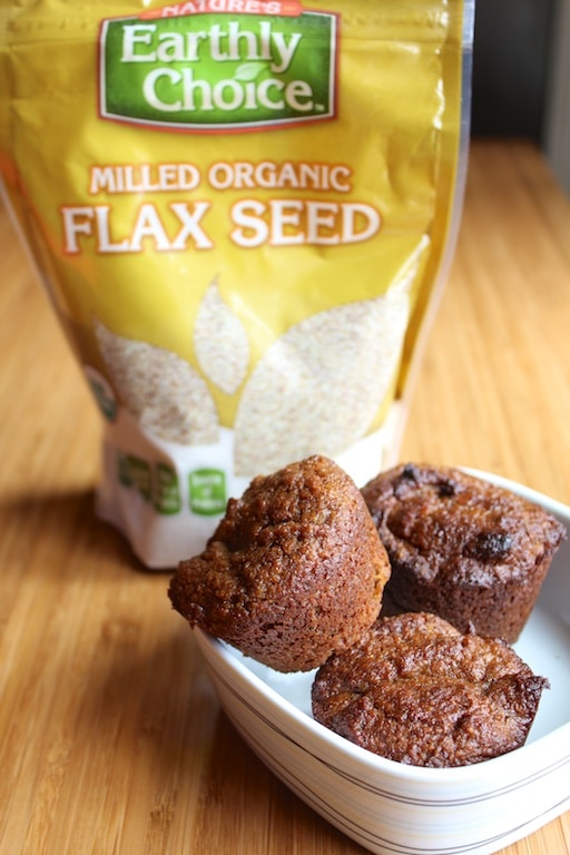 Cinnamon Flax Muffins (gluten-free, vegan option) from Carrie on Living | www.cleaneatingkitchen.com