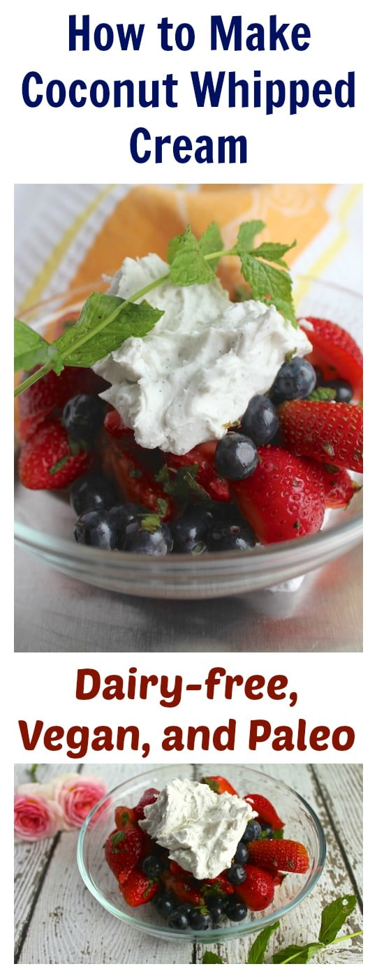 How to Make Dairy-Free Coconut Whipped Cream from Carrie on Living | www.cleaneatingkitchen.com