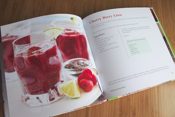 Cherry Berry Lime Smoothie recipe in book