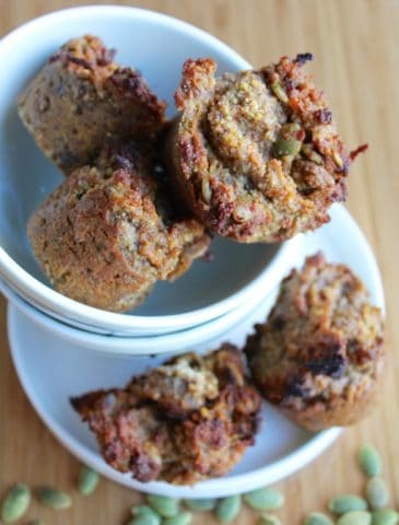 Gluten-Free Carrot Cake Muffins with Pepitas