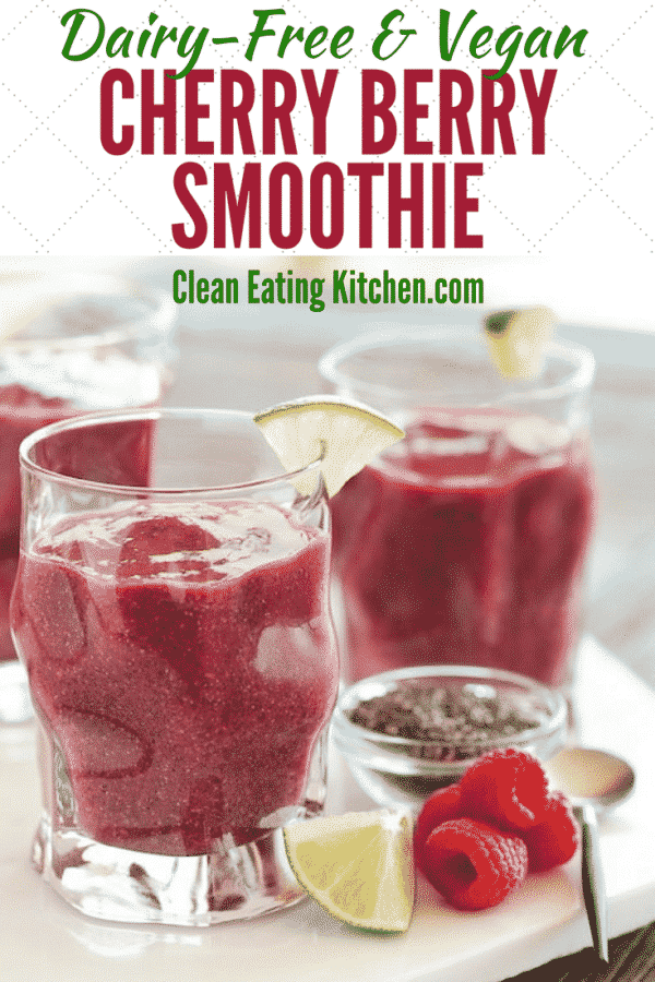 Vegan Cancer Fighting Cherry Berry Smoothie