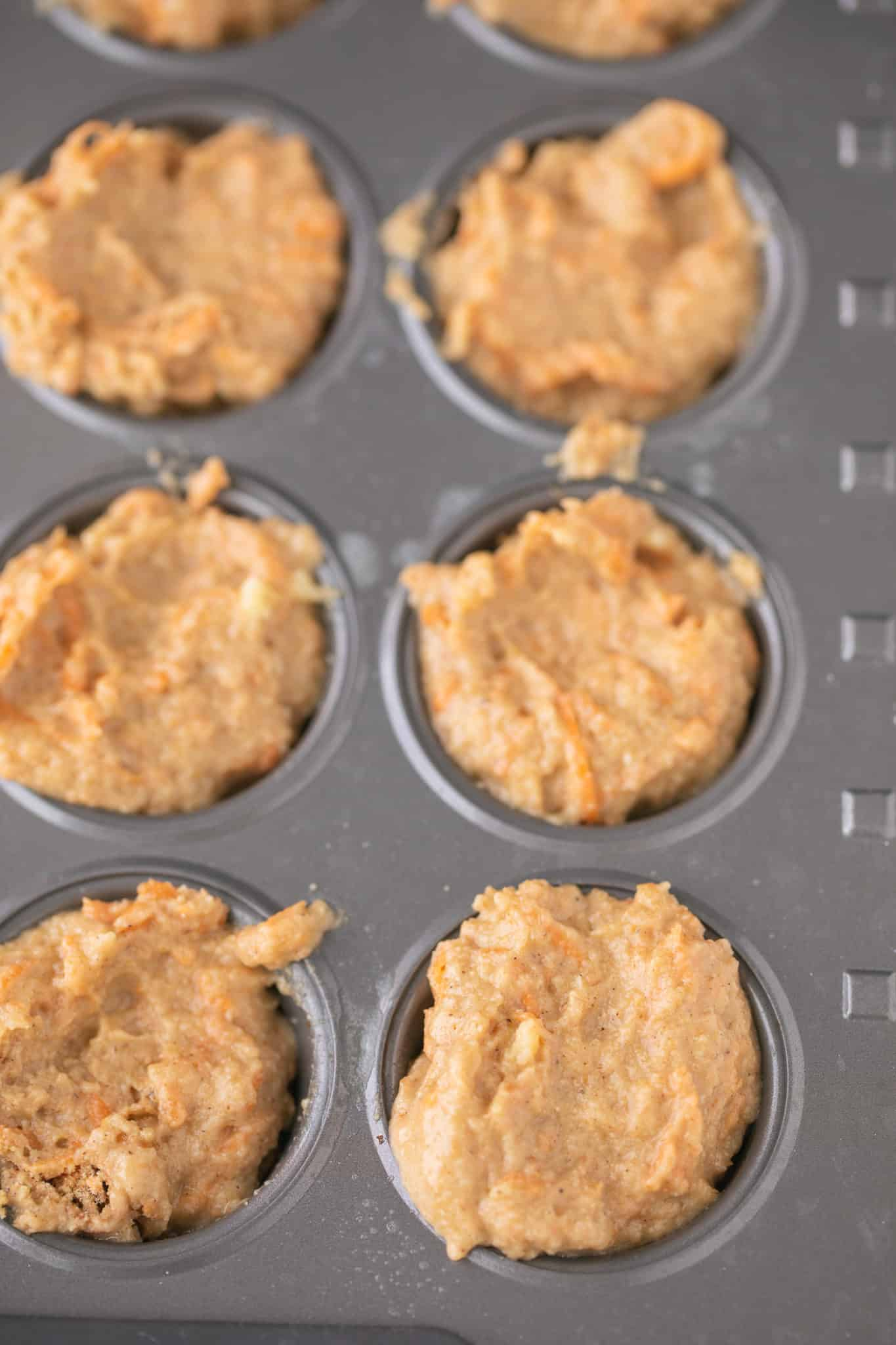 banana carrot muffin batter