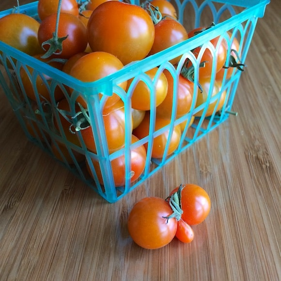 Baby tomatoes with a weird shape from Carrie on Living | www.cleaneatingkitchen.com
