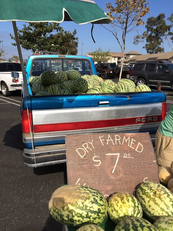 Dry farmed watermelons featured on Carrie on Living | www.cleaneatingkitchen.com
