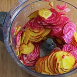Making beet chips from Carrie on Living | www.cleaneatingkitchen.com