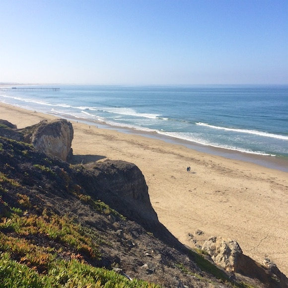 Pismo Beach cliffs featured on Carrie on Living | www.cleaneatingkitchen.com