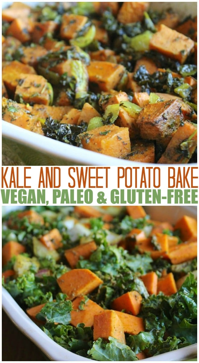 This 3-ingredient Kale & Sweet Potato dish can be served as a side or main dish option. Everyone loves it because of the hearty and delicious sweet potatoes.