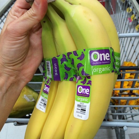 Organic bananas as part of my healthy holiday ingredients
