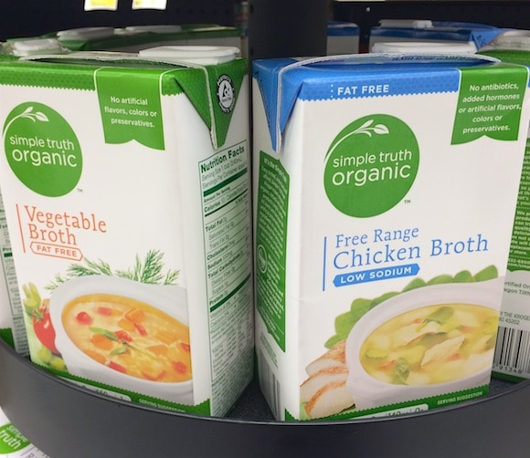 Organic broths as part of my healthy holiday ingredients