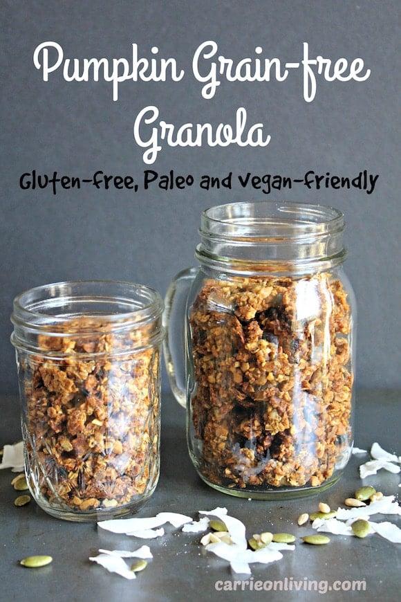 Pumpkin grain-free granola for a healthy, gluten-free breakfast or snack