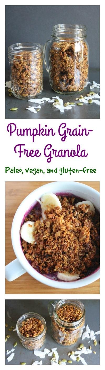 Pumpkin grain-free granola for a paleo or vegan-friendly breakfast