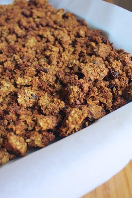 pumpkin grainfree granola baking sheet