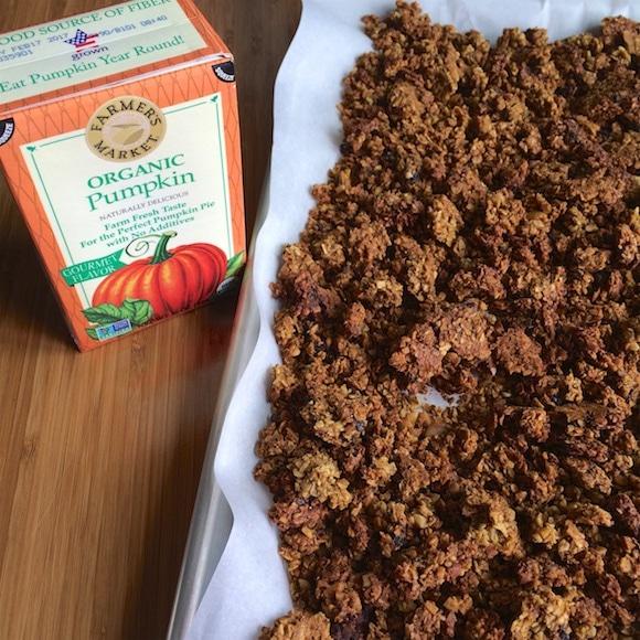 pumpkin granola and puree
