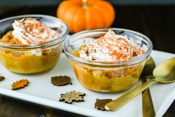 Dairy-free Pumpkin Pie Pudding duo